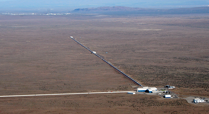 This is a view of the LIGO detector in Hanford, Washington.