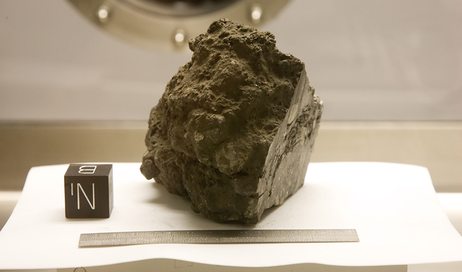 A rock collected from the moon.