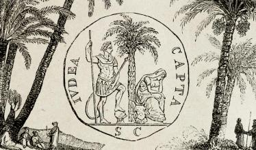 Illustration of ancient date palms